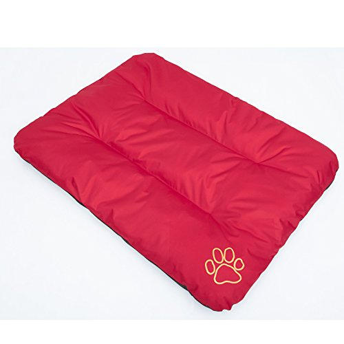 Hobbydog R1 ECOCZE6 hondenbed ECO slaapplaats rustplaats hondenmatras hondenkussen, 90 x 60 cm, L, rood