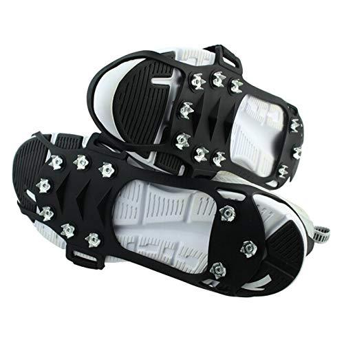 Ducomi Rampons sneeuwschoenen voor schoenen en laarzen met 10 tanden Artigli – Ramponi met anti-slip noppen voor winterlaarzen voor dames en heren, bergbeklimmen, wandelen en klimmen