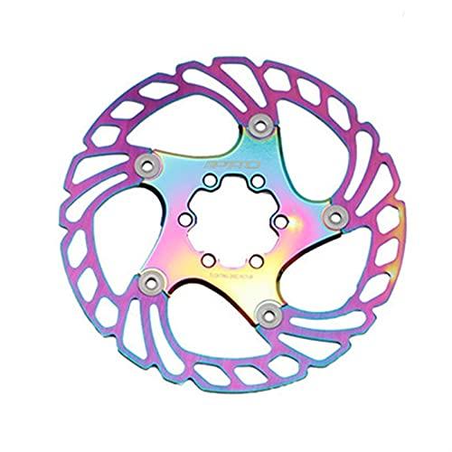 KSHYE Colorido Disco Flotante Bicicleta Freno Rotor Bicicleta Disco Seis uñas Disco Freno Plato de Freno (Color : 160mm)