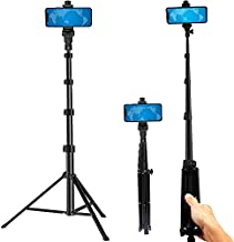 Phone Tripod Stand Selfie Stick 54 Inch Aluminum Alloy with Wireless Remote Video Recording/Photography/Live Streaming Compatible with iPhone 12 11 pro Xs Max Xr X 8 7 6 Plus, Android Samsung Galaxy