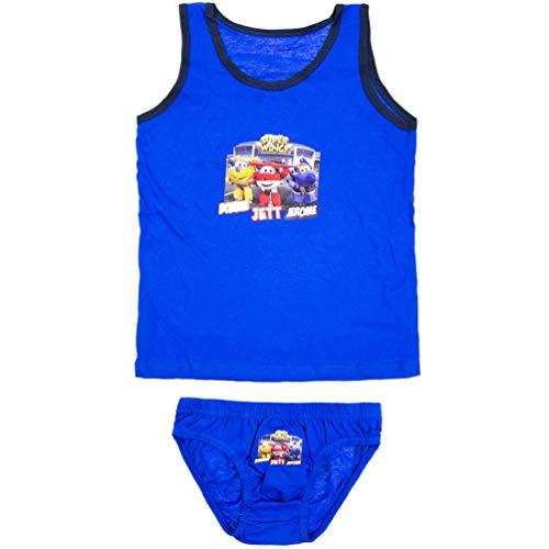 Super-Wings Unterwäsche-Set Unterhemd + Unterhose 2 TLG, Farbe:Blau, Größe:146-152 (11/12 A)