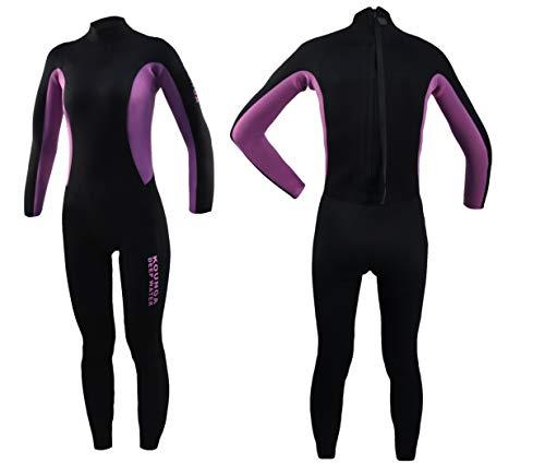 Kounga Dw 3.2 Traje para Surf y Buceo, Mujer, Negro/Violeta, S
