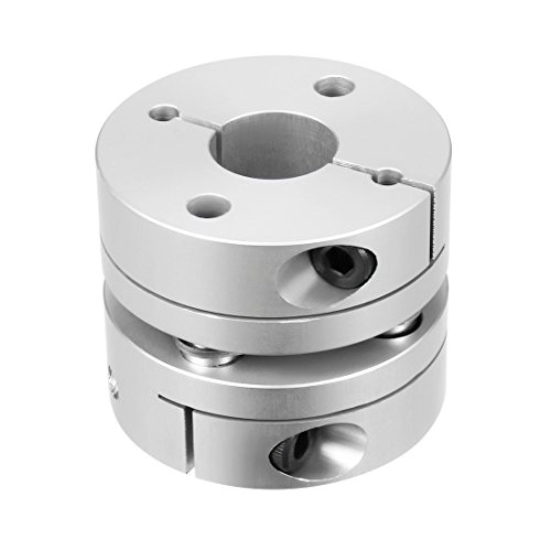uxcell 12mm to 14mm Bore One Diaphragm Motor Wheel Flexible Coupling Joint
