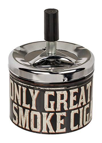 CN drukasbak, asbak, staasbak, stormasbak, tafelasbak, windasbak »Tobacco« Eén maat Grote rook.