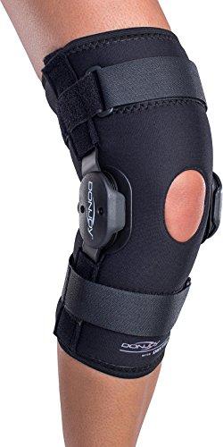 hinged knee braces DonJoy Deluxe Hinged Knee Brace, Drytex Sleeve, Open Popliteal, Large