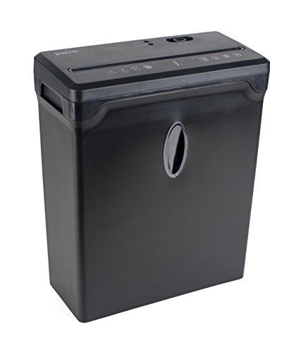 PREMIUM Aktenvernichter bis zu 6 Blatt, Partikelschnitt / Kreuzschnitt 4x33mm mit Kreditkart Shredder, inklusive Papierkorb 10L