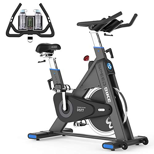 Cycool Exercise Bike Stationary,330 Lbs Weight Capacity Pro Belt Drive Indoor Home Gyms Cycling Bike Trainer, Super Smooth Heavy Duty Flywheel Commercial Studio Cycle for Fitness(Blue)