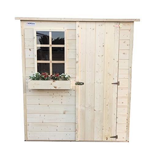 Home Idea Italia Casetta in legno da 20 mm 173 x 160 cm con 1 porta e 1 finestra fissa