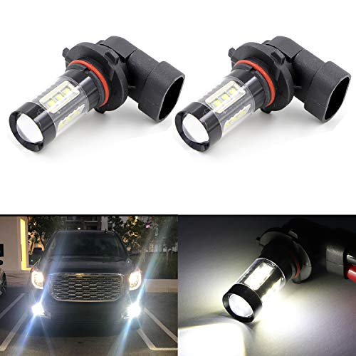9006 HB4 Fog Light Bulbs LED 80W Ultra Extremely Bright 6000K 16 SMD White Xenon Fog Spot Light Bulbs Lamps (Pack of 2)