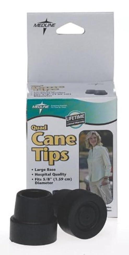 Medline MDS86425W Quad Cane Tips, Large Base, 5/8