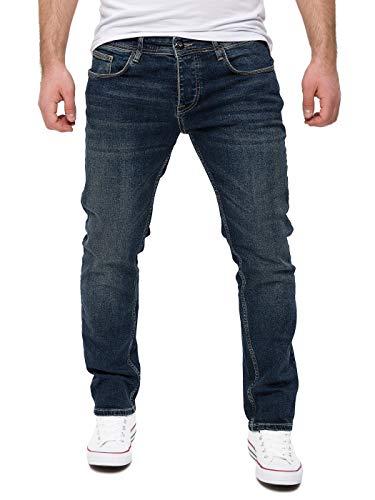 WOTEGA Herren Jeans Slim fit Alistar - Stretch Jeanshose - dunkel Blaue Hose für Männer Straight - Denim Hosen, Blau (Total Eclipse 194010), W38/L30