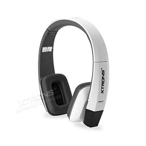 XTRONS Black IR Draadloze Dubbele Kanalen Infrarood Stereo Draadloze Koptelefoon 2 Kanalen voor Kinderen Kleur: wit
