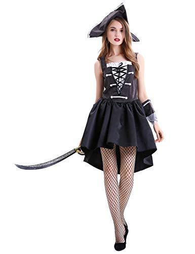 XINSH Disfraz Halloween Pirata Mujer Costume Cosplay Carnaval Navidad Fiesta para Adultos