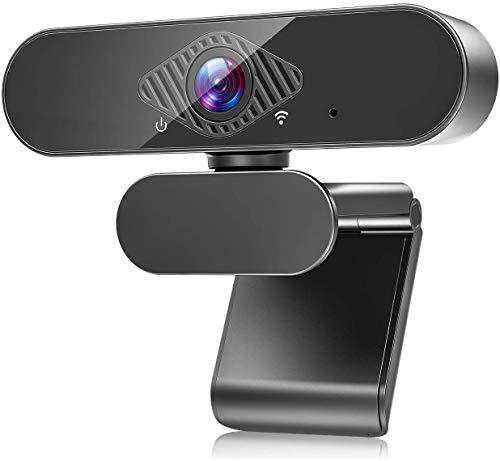 Aode Webcam con micrófono HD 1080P Webcam con campo de visión de 120°, corrección de exposición y clip giratorio USB 2.0 Plug & Play para streaming en directo, videollamadas para PC/Mac/Linux 04