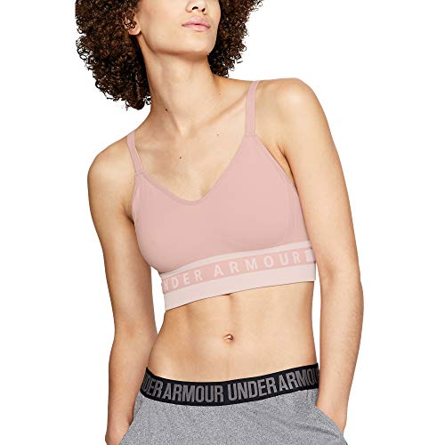 Under Armour Damen Women's Seamless Longline Bra Unterwäsche, Flushed Pink (602)/Flushed Pink, Large