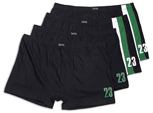 Frank Fields Herren Retro-Pants aus Baumwolle im sportlichen Design bis Größe 14/5XL 4er Pack, Farbe:grün, Größe:3XL