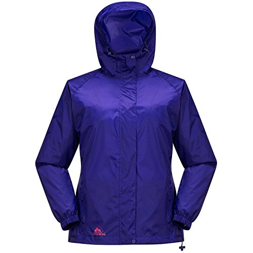 Cox Swain Damen Regenjacke Male - mit Kapuze, super leicht!, Colour: Purple, Size: L