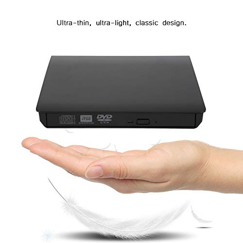 Unidad de DVD, portátil universal, portátil, USB externo, DVD, CD, grabadora, grabadora, unidad óptica para computadora portátil, Plug and play, para problemas de arranque del sistema y recuperación d