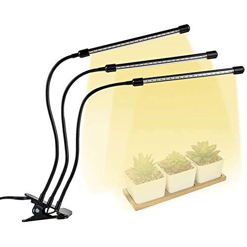 JZH 30W plantenlamp LED plantenlicht volledig spectrum 60 LEDs Grow lamp 3 soorten lichtmodi 5 niveaus helderheid plantenlamp 3H / 6H / 12H Timing functie