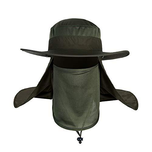 Sombrero de Sol de 360 Grados para Hombre Sombrero de Sol de Verano para Hombre Sombrero de Pesca con Protector Solar a Prueba de Agua Sombrero de Pescador Ultravioleta