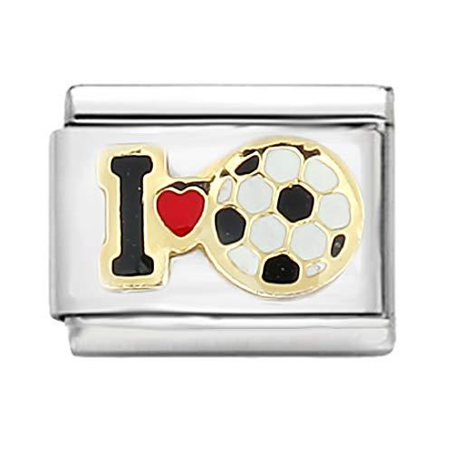 AKKi jewelry Italian Charms Armband Classic glieder Italy Charm,Silber Gold Edelstahl Links Kult modele Blume Tiere Herz für Fussball