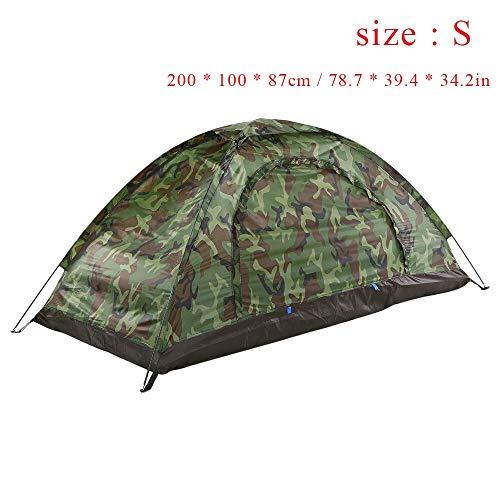 Générique Arongbc Tente de Camping ultralégère à Couche Unique résistante à l'eau pour 2 Personnes avec Sac de Transport 1,2 kg, Vert