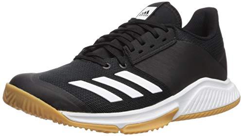 adidas Women's Crazyflight Team Volleyball Shoe, Black/White/Gum, 11 M US