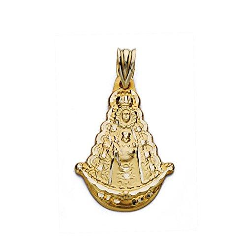 Medalla oro 9k Virgen del Rocío silueta 26mm. [AA0826]