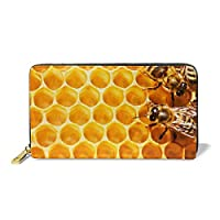ドラゴン 女性 財布 The Bee Hive プレミアムレザー Long 財布 Pattern Printed 女性s ジッパー 財布 Clutch