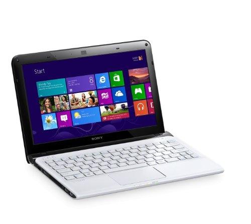 Sony VAIO SVE1112M1EW 29,5 cm (11,6 Zoll) Laptop (AMD E2 1800, 1,7GHz, 4GB RAM, 500GB HDD, AMD HD 7340, Win 8) weiß