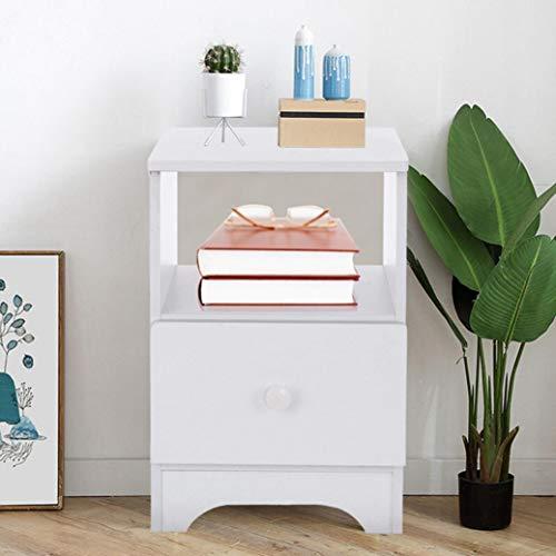Yuanyan Meuble de rangement à tiroir unique - Table de chevet - Grand comptoir - Résistant à l'humidité - Facile à nettoyer - Pour chambre à coucher, salle de bain, salon