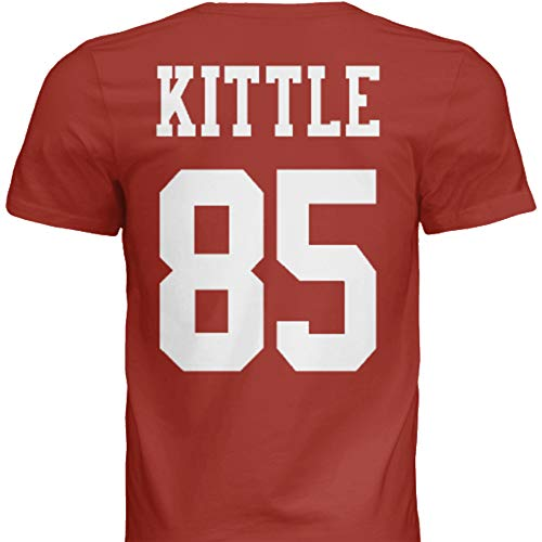 Hall of Fame Sports Memorabilia NWT New Kittle #85 San Francisco Red Custom Screen Printed Football T-Shirt Jersey No Brands/Logos Men's (Medium)