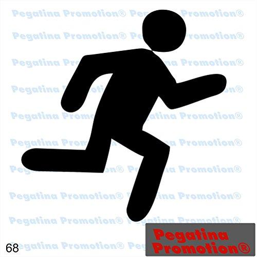 Piktogramm Typ 68 Icon Symbol Zeichen Fluchtweg Rettungsweg Notausgang Exit Aufkleber ca.15cm von Pegatina Promotion® Aufkleber mit Verklebehilfe von Pegatina Promotion® ohne Hintergrund geplottet
