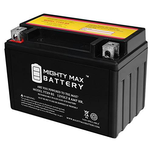 Mighty Max Battery YTX9-BS Replacement for Suzuki LT-Z400 Quadsport ATV Deep Cycle Battery Brand Product
