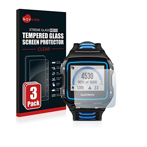 savvies Pellicola Vetro Temperato Compatibile con Garmin Forerunner 920XT (3 Pezzi) Protezione, Schermo Protettivo, Glass Durezza 9H