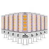 Brightbull® G4 LED – [10 x ] G4 LED blanco cálido – Bombilla G4 LED con [2] años de garantía – 30.000 horas de vida útil – 2,5 W y 270 lm – Iluminación de 360° (10)