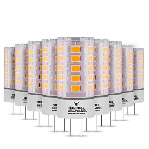 Brightbull G4 LED – [10 x ] G4 LED blanco cálido – Bombilla G4 LED con [2] años de garantía – 30.000 horas de vida útil – 2,5 W y 270 lm – Iluminación de 360° (10)