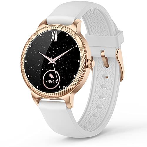 Smartwatch Mujer,Reloj Inteligente Deportivo con Esfera Personalizada,Impermeable IP68 Monitor de Sueño, Cronómetros,Calorías,Pulsómetro Monitores Pulsera Actividad Inteligentes para Android iOS