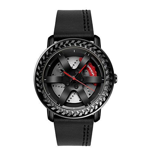 SANDA Relojes De Pulsera,Mira el Reloj del cinturón de la Moda de los Hombres de los Hombres del Reloj de los Hombres-Negro