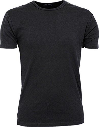 TJ520 Mens Interlock Bodyfit T-Shirt, Farbe:Black;Größen:L L,Black