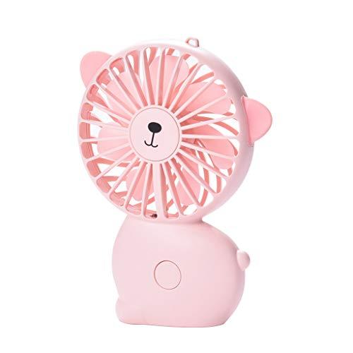 JiaMeng Ventilador Ventilador de Mesa Pequeño Portátil y Silencioso, portátil portátil Recargable portátil con Ventilador de enfriamiento Mini Ventilador
