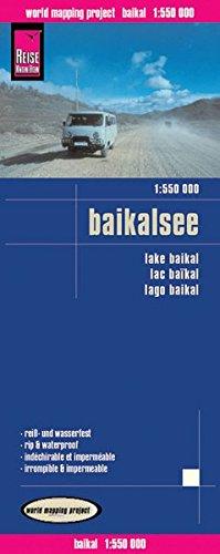 Lago Baikal, mapa impermeable de carreteras. Escala 1:550.000 impermeable. Reise Know-How.