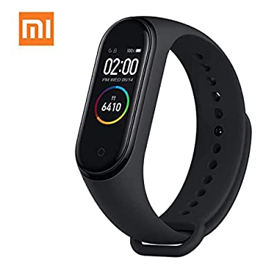"AEE Mi Band 4 Health & Fitness Tracker Exercise Band, Heart Rate Monitor Activity Tracker, Sports Watch 0.95"" Color AMOLED Display- Global Version"