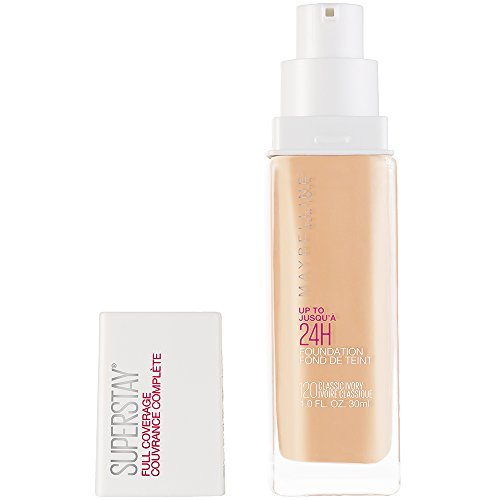 HOT!- Maybelline Super Stay Full Coverage Liquid Foundation Makeup, Classic Ivory, 1 Fl Oz.