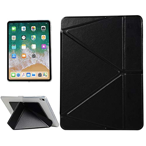 G-rf Tablet Hoezen PU Leather Case for iPad Pro 11 inch (2018), met Multi-vouwen Holder & Sleep/Wake-up-functie (zwart) (Color : Lake Blue)