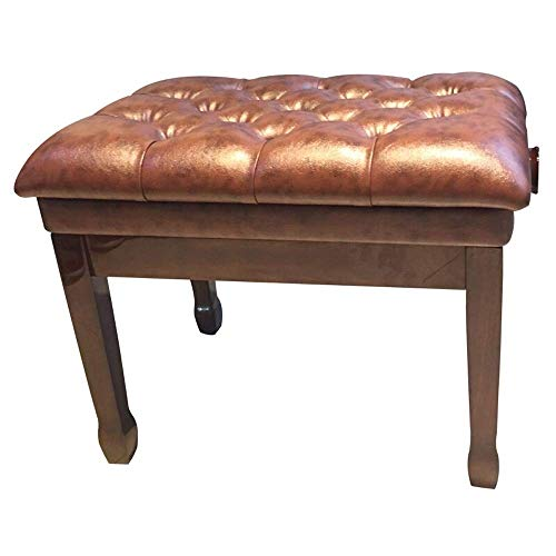 Check Out This YWAWJ Artist Piano Bench Stool in Single Solid Wood Lacquered Electric Piano Chair wi...