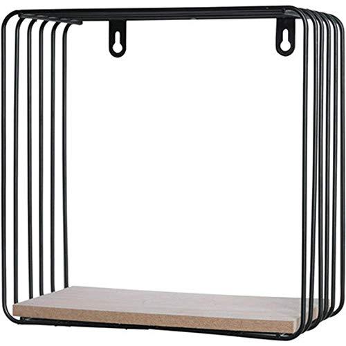 ZLJ Estante Flotante Diseño de Alambre de Metal TV Decoración de Pared Estilo nórdico Estantes de Pared Simples y Modernos Estante de exhibición Flotante de Pared para la decoración de la casa y
