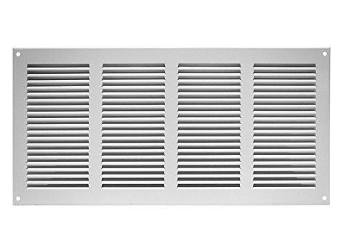 Rejilla de ventilación anti-insectos, entrada-salida de aire, 400 x 200 mm, blanca, mr4020