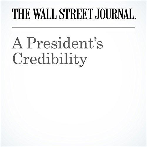 A President's Credibility copertina