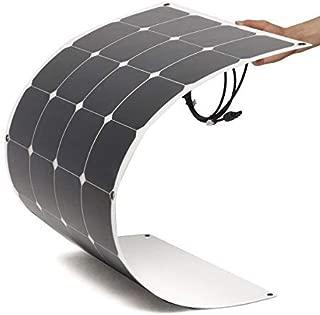 Panel Solar Flex 150W monocristalino con la Capa de ETFE Placa Solar Flexible 12v Uso para Barco, Cabina, Tienda de Campaña, Coche, Acoplado y Auntocaravana